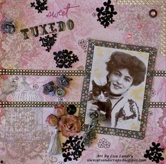 Sweet Tuxedo ~ Bo Bunny 'Madeleine' & Wild Orchid Crafts