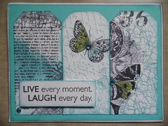 LIVE every moment...tag card