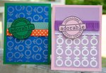 Adorable Baby Cards ***Gel-A-Tins Stamps***