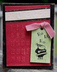 Ho Ho Ho Card ***Gel-A-Tins Stamps***