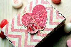 Valentine's Button Matchbox **Epiphany Crafts**