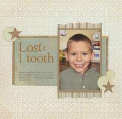 Lost: 1 Tooth