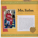 Mrs. Forbes: Teacher Extraordinaire