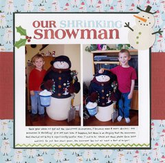 Our Shrinking Snowman