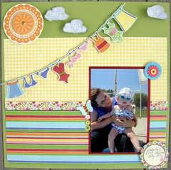 Scrapshotz Summer DT Reveal - Isabella's first swim