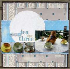 Scrapshotz September Reveal - Tea For Three