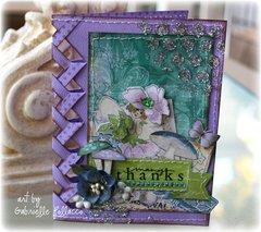 Braided Edge Card **Bo Bunny- Enchanted Garden**