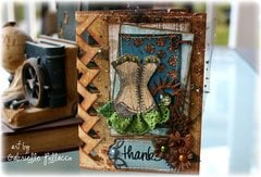 Braided Edge Card **Bo Bunny - Somewhere In Time**