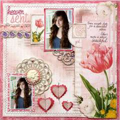 Heaven Sent **Websters Pages & Unity Stamps!**