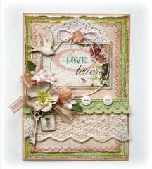 Love Letters Card **Websters Pages Western Romance**