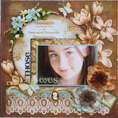 Those Eyes  **MY CREATIVE SCRAPBOOK**
