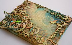 Mixed Media Canvas w. VIDEO TUTORIAL **Dusty Attic & Shimmerz Paints**