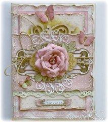 Primrose Card **Bo Bunny Kraftwood**