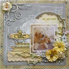 So Dog Gone Cute **Bo Bunny Serenity** & Dusty Attic