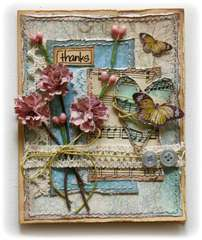 Thanks Card *Bo Bunny Handmade Flower Challenge!**