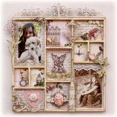 Shabby-Chic Wall Decor **Websters Pages & Dusty Attic DT**