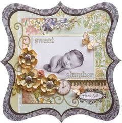Sweet Slumber **MY CREATIVE SCRAPBOOK**...plus tutorial!!!