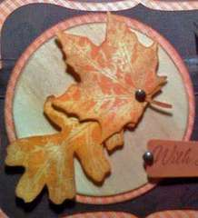 Autumn Leaf Sympathy Card