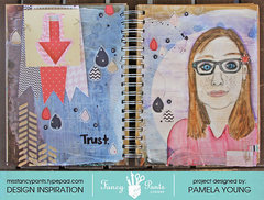 Trust (art journal page)