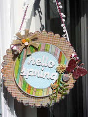 Hello Spring front door sign **Fancy Pants**