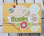 Honeycomb Thanks Card