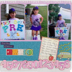 First day of Pre K!