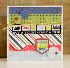 Adventure Starts Here card by Becky Williams