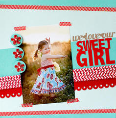 We Love Our Sweet Girl featuring Queen & Co Stylish Stix