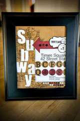 Subway Sign by Sande Krieger featuring new Basics!