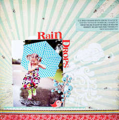 Rain Drops by Susan Weinroth featuring What's Up from Basicgrey