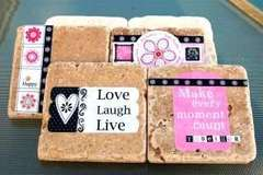 Love Laugh Live Coasters by Lisa Day