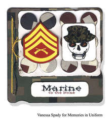 Marine To The Bone card