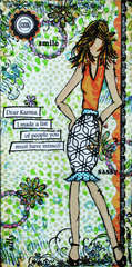 Dear Karma Mixed Media Canvas