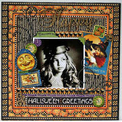 Happy Halloween Greetings by Keely Yowler