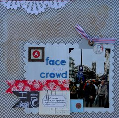 A Face in the Crowd *Sketch-N-Scrap*