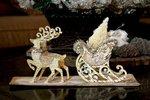 Sleigh & Reindeer Table Centrepiece