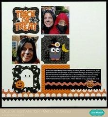 Pebbles Thirty-One Halloween Layout by Mendi Yoshikawa