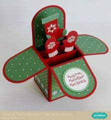 An Echo Park Christmas Cheer Box Card by Mendi Yoshikawa