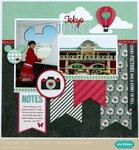 Echo Park We Are Family Disney Layout by Mendi Yoshikawa