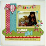 An Echo Park Sweet Girl Layout by Mendi Yoshikawa