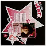 A Birthday Girl Rock Star Ombre Layout by Mendi Yoshikawa