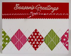 An Argyle Holiday Christmas Card by Mendi Yoshikawa