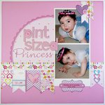 A Bella Blvd. Baby Girl Layout by Mendi Yoshikawa