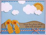 Papertrey Ink Summer Sunshine & Flip Flops Card by Mendi Yoshikawa