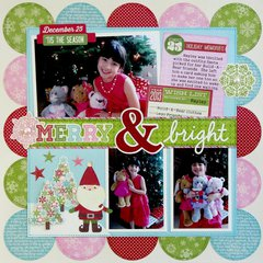 Jillibean Soup Christmas Eve Chowder Layout by Mendi Yoshikawa