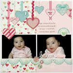 A Crate Paper Love Notes Layout by Mendi Yoshikawa