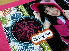 American Crafts Boo Halloween Cowgirl Layout