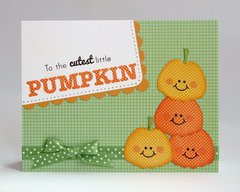 Papertrey Ink Halloween Pumpkin Card by Mendi Yoshikawa