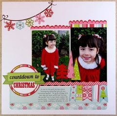 An Echo Park Happy Holidays Layout by Mendi Yoshikawa
