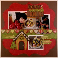 Echo Park This and That Christmas Layout by Mendi Yoshikawa